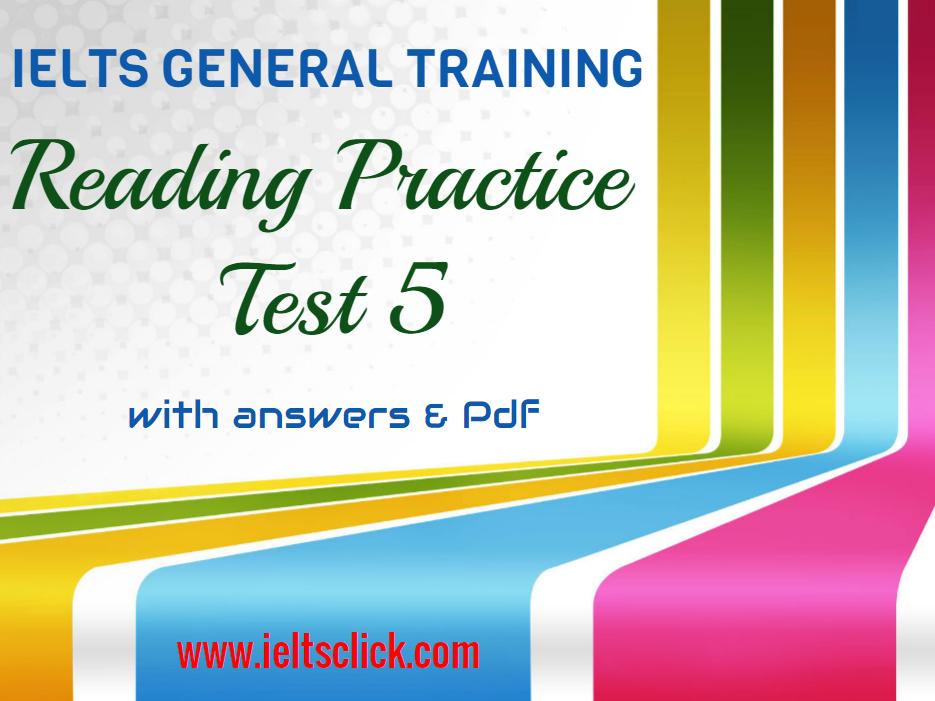 Pdf tests practice general ielts reading